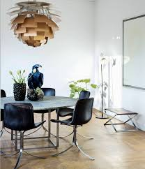 Modern Chandelier Dining Room by Contemporary Dining Room Using Modern Furniture And Golden