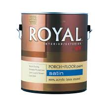 Behr Porch And Floor Paint On Concrete by Royal Interior Exterior Latex Satin Porch U0026 Floor Paint Gallon