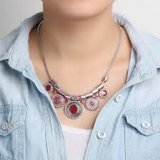 ethnic statement necklace images 2018 new choker necklace fashion ethnic collares vintage silver jpg