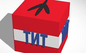 minecraft ribbon 3d design tnt minecraft pe tinkercad