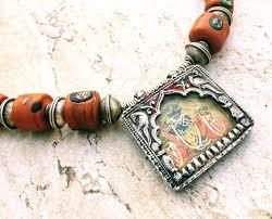ethnic necklace vintage images Krishna necklace vintage hindu god rajasthan jewelry rare JPG