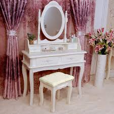 Bedroom Vanity Set With Drawers Tribesigns Makeup Vanity Table Set Bedroom Dressing Table With