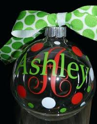 personalized clear glass ornaments custom glass