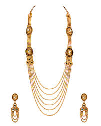 long necklace set images Buy designer necklace sets long necklace set with golden bead jpg