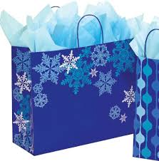 blue gift bags snowflake swirl christmas gift bags box and wrap