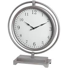 Large Silver Mantel Clock Silver Round Mantel Clock Hanging Within Frame From Baytree