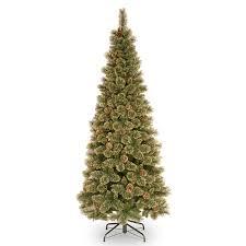 7ft glittery gold pine slim artificial tree garden