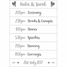 wedding day planner personalised wedding day planner sign by plantabox