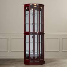 Kitchen Corner Display Cabinet Curio Cabinet Tall Curio Cabinet Corner Oaked Glass Wood Display