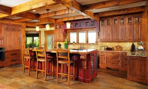 traditional rustic kitchen with custom island santa cecelia image of rustic kitchen tables and chairs