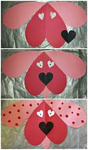 cute dog valentines day craft for kids card idea diy art with cut