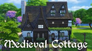 the sims 4 house building medieval cottage youtube