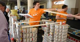 canstruction for second harvest gets underway