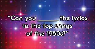 Hit The Floor Quizzes - can you guess the lyrics to the top songs of the 1980s