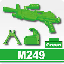machine gun m249 green