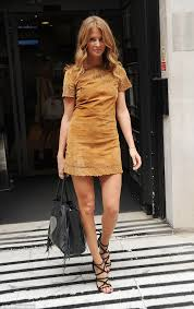 millie mackintosh wows in short suede dress as she promotes new