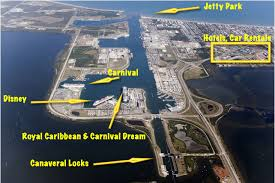 port canaveral map jon cocoa shuttle cruise critic message board forums
