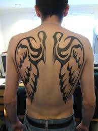 wing back tattoos for design idea for and