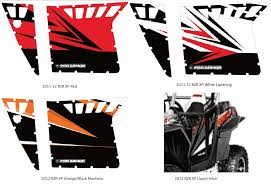 pro armor door graphics for the polaris rzr s sidebysidestuff com