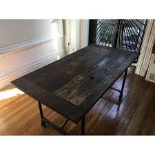 restoration hardware flatiron dining table aptdeco