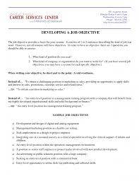 Job Objective Examples For Resume by Marketing Resume Objective Berathen Com