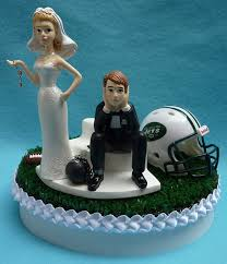and chain cake topper wedding cake topper new york jets ny football themed by wedset