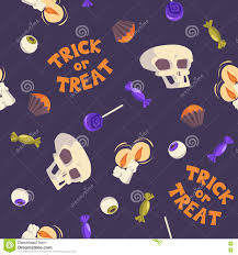 trick or treat halloween seamless pattern stock vector image