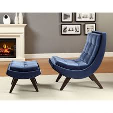 Navy Blue Accent Chair Furniture Living Room Interior Charming Navy Blue Velvet In