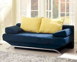 design modern sofa bed in vibrant blue finish 33ss163