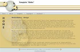 html css template globe