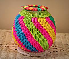 Origami 3d Flower Vase 19 Origami Flower Pot Cantinho Da Prof 170 Ally Atividades