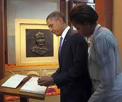 Seeking Obama Obama Invoked Gandhi While Seeking Re Election Rediff India News