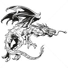 dragon clipart black white free clip art images freeclipart pw