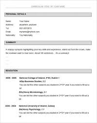 business resume template free free basic resume templates template business
