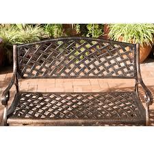 amazon com best selling cozumel cast aluminum bench antique