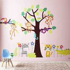 tropical jungle wall stickers parkins interiors tropical jungle wall stickers