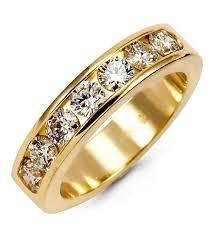 gold bands rings images Women 39 s 14k yellow gold 1 05ct round diamond band ring wedding jpg