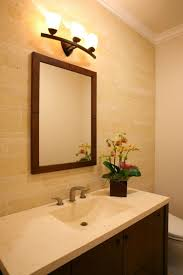 bathroom mirror and lighting ideas awesome bathroom mirror and light ideas mounted on travertine