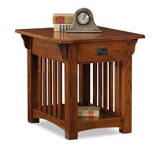 mission style end tables leick furniture 8207 medium oak mission style end table ebay