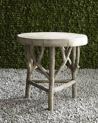 faux bois side table artemis faux bois side table