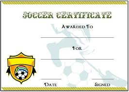 soccer certificate template certificate template for kids perfect