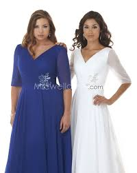 plus size guest wedding dresses us 185 99 plus size v neck half sleeves chiffon by 7316 vintage