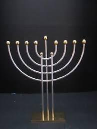 menorah modern karshi original menorah modern gold silver plated made
