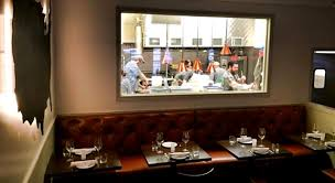 contemporary restaurant kitchen window back wall i inside design