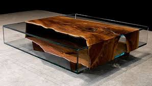 wooden coffee table designs with glass top wood furniture