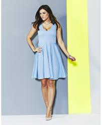 plus size light blue jacquard skater dress from simply be plus