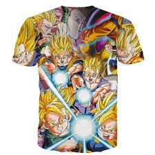 dbz goku gohan goten super saiyan kamehameha color design shirt