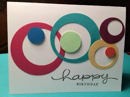 crafted card die cut circles within circles card