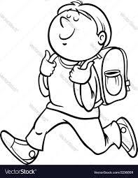 boy grade student coloring page royalty free vector image