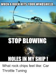The Rock In Car Meme - when a rock hits your windshield stop blowing holes in my ship what